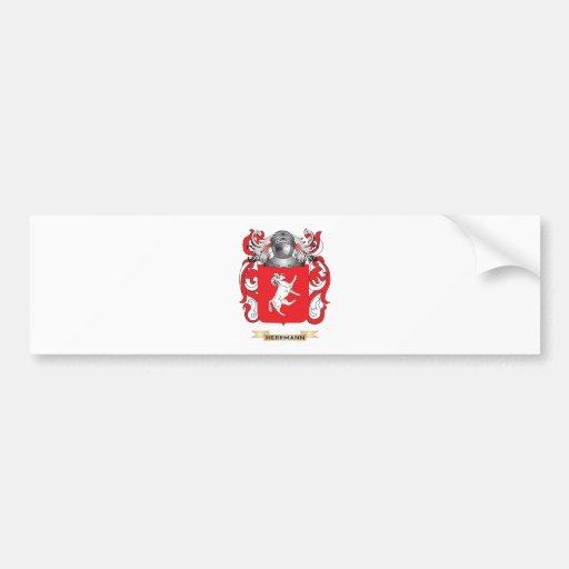 Herrmann Coat of Arms (Family Crest) Car Bumper Sticker