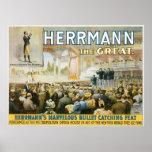 Herrmann el acto de cogida de la gran del ~ bala d poster