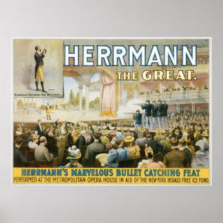 Herrmann el acto de cogida de la gran del ~ bala d póster