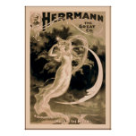 Herrmann el gran mago 1898 del vintage del ~ del ~ poster
