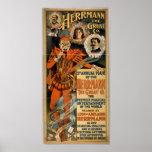 HERRMANN el gran poster del VODEVIL del ilusionist