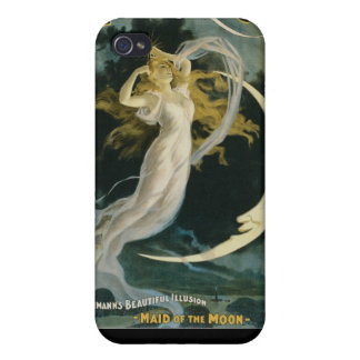 Herrmann ~ Maid of the Moon Vintage Magician Act iPhone 4 Case