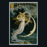 "Herrmann ~ Maid of the Moon Vintage Magician Act Poster<br><div class=""desc"">Herrmann ~ Maid of the Moon Vintage Magician Act.  Vintage magic performance poster promoting 1898 magic show,  Maid of the Moon.</div>"