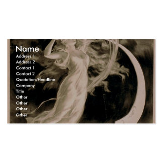 Herrmann Maid of the Moon Vintage Theater Business Card Template