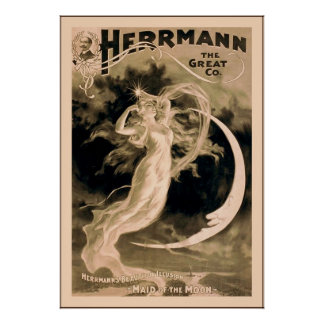 Herrmann the Great Co. ~ 1898 ~ Vintage Magician Poster
