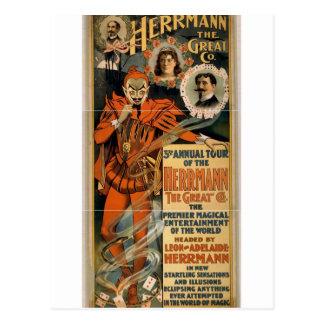 Herrmann the Great Co. Retro Theater Postcard