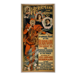 HERRMANN the Great Illusionist VAUDEVILLE Poster