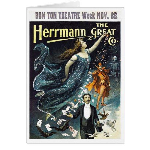 Herrmann The Great Restored Vintage Travel Poster