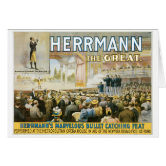 Herrmann The Great ~ Vintage Bullet Catching Act Card