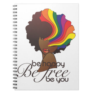 Hers and Hers Be Happy Notebook