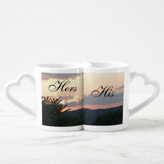 Hers and His Sunset Coffee Mug Set