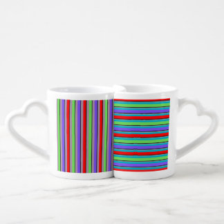 Hers & His Change the Color Candy Stripe Coffee Mug Set