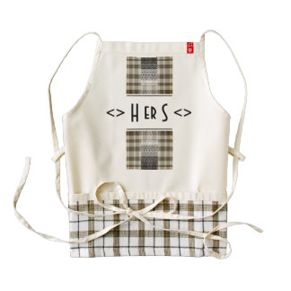 Hers Monogram Ethnic Vibes of Zazzle Heart Apron