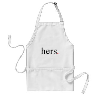 Hers, text design for couple t-shirt adult apron