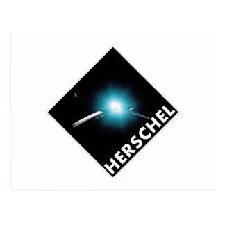 Herschel Space Telescope Mission Patch   Postcard