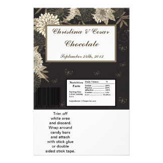 Hershey's Large Bar Wrapper Black Cream Daisies/Ca Personalized Flyer