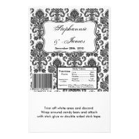 Hershey's Large Bar Wrapper Black White Damask Lac Flyer