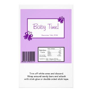 """Hershey's Large Bar Wrapper Purple Butterfly 5.5"""" X 8.5"""" Flyer"""