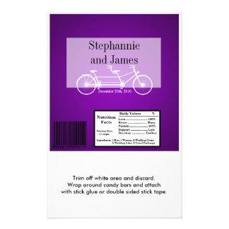 Hershey's Large Bar Wrapper Purple  Double Bike Flyer