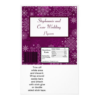 Hershey's Large Bar Wrapper Purple Stars/Snowflake Flyer
