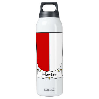 Herter Family Crest 16 Oz Insulated SIGG Thermos Water Bottle