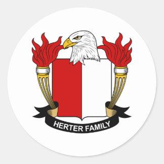 Herter Family Crest Classic Round Sticker