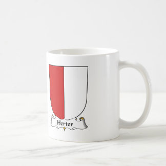 Herter Family Crest Classic White Coffee Mug