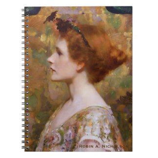 Herter Woman with Red Hair Personalized Notebooks