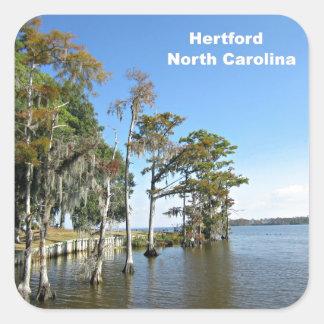 Hertford North Carolina Square Stickers