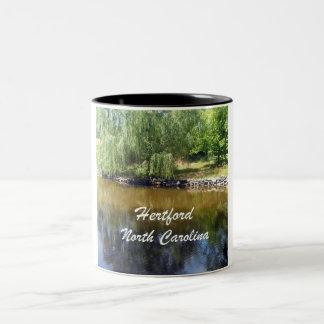 Hertford, North Carolina Two-Tone Coffee Mug