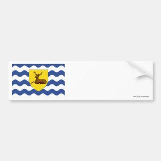 Hertfordshire Flag Car Bumper Sticker