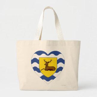 Hertfordshire Flag Heart Jumbo Tote Bag
