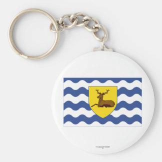 Hertfordshire Flag Basic Round Button Keychain
