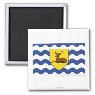 Hertfordshire Flag 2 Inch Square Magnet