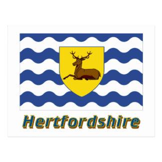 Hertfordshire Flag with Name Postcard