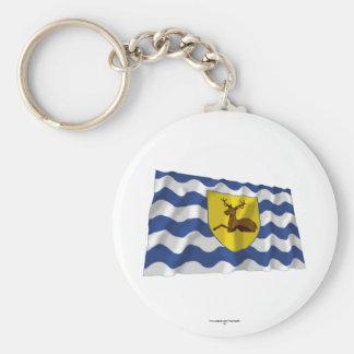 Hertfordshire Waving Flag Basic Round Button Keychain