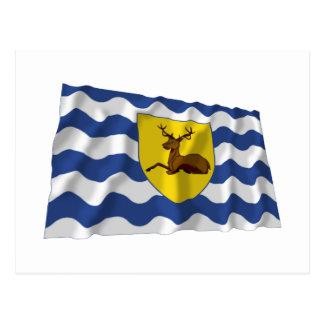 Hertfordshire Waving Flag Postcard