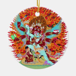 Heruka Buddhist Deity Ceramic Ornament