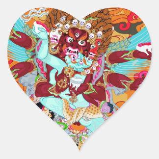 Heruka Buddhist Deity Heart Sticker