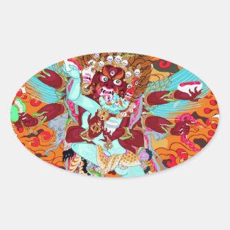 Heruka Buddhist Deity Oval Sticker