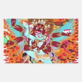 Heruka Buddhist Deity Rectangular Sticker