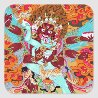 Heruka Buddhist Deity Square Sticker