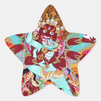 Heruka Buddhist Deity Star Sticker