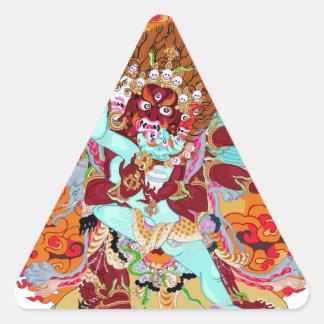 Heruka Buddhist Deity Triangle Sticker