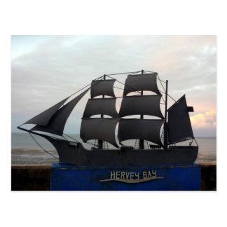 hervey bay boat postcard