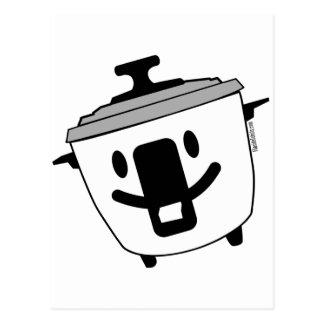 Hervidor de arroz feliz postal