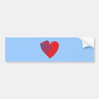 Herz Hand Adern heart hand blood vessels Auto Sticker
