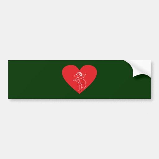 Herz heart autosticker