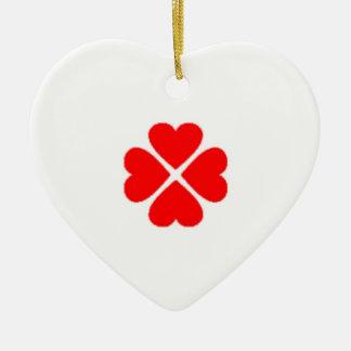 herz herzchen querido love glücksbringer kleeblatt adorno navideño de cerámica en forma de corazón
