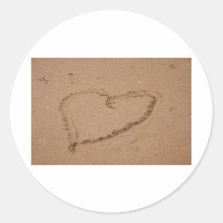 Herz im Sand Sticker